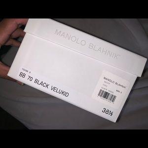 Black suede shoes - Manolo Blahnik